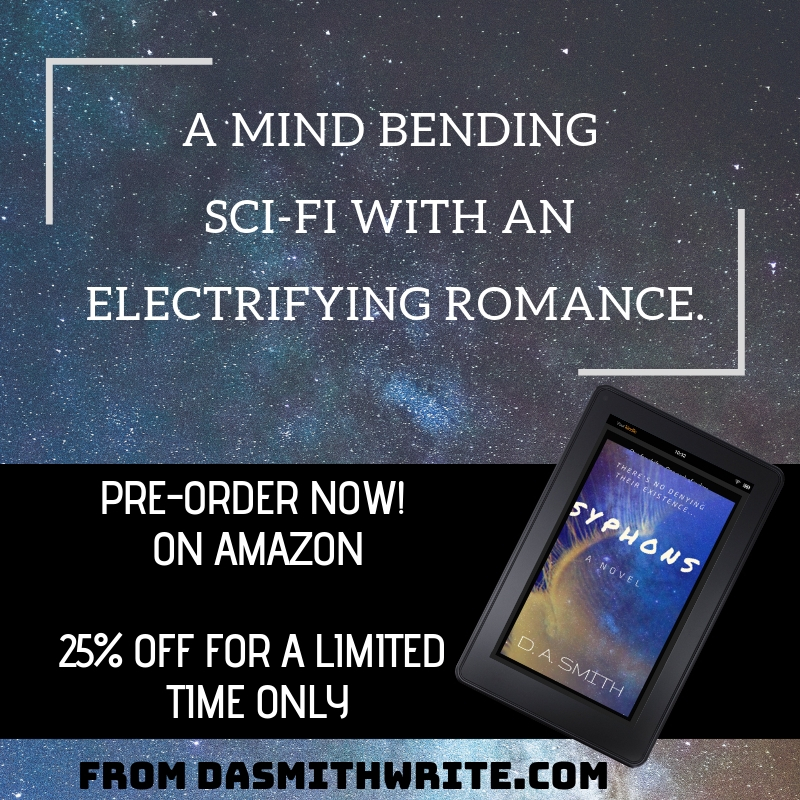 ***Pre-Order on Amazon*** Debut Sci-fi – Syphons, A Novel is Only $2.99 for a Limited Time Only & a Giveaway!
